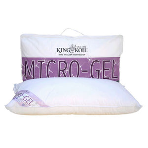 KingKoil Micro Gel Pillow (Super Soft) (Soft) (Firm) (Extra Firm) (Ultra Firm) - The Mattress Boutique