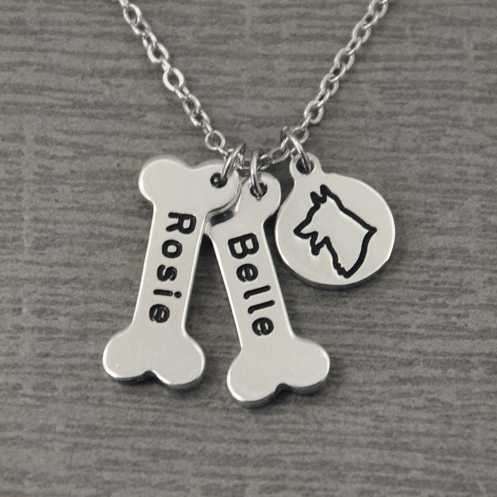 Personalised German Shepherd Necklace - Animal Charms