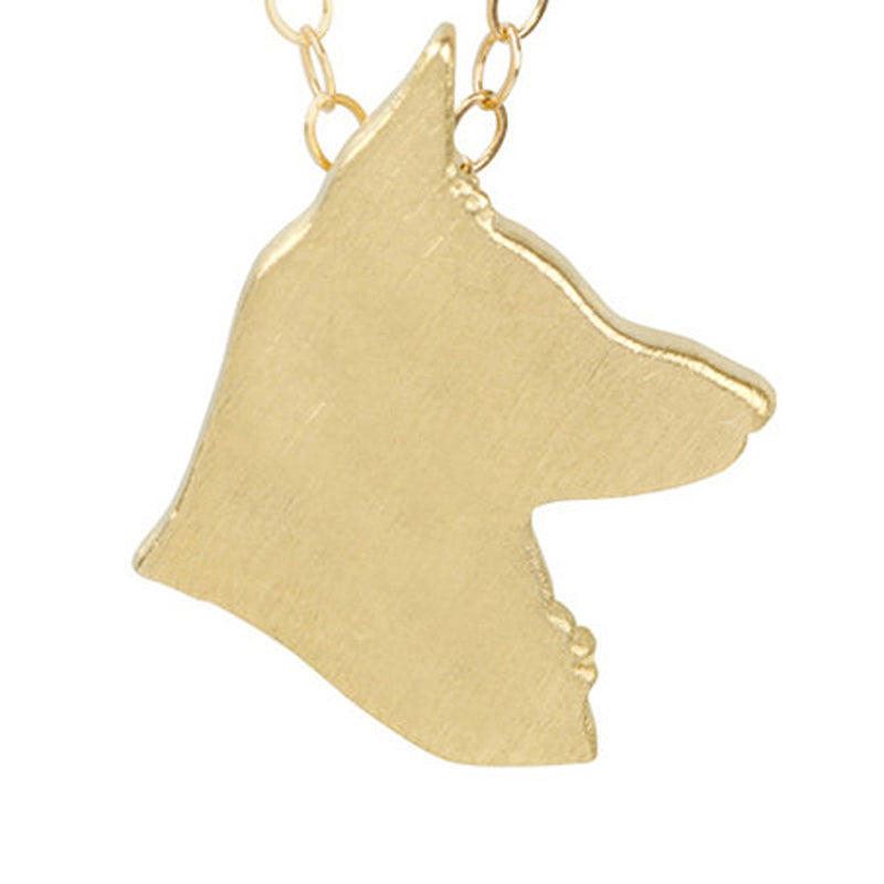 German Shepherd Head Necklace - Animal Charms