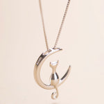 Cat Moon Pendant - Animal Charms