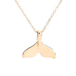Dolphin Tail Pendant Necklace - Animal Charms