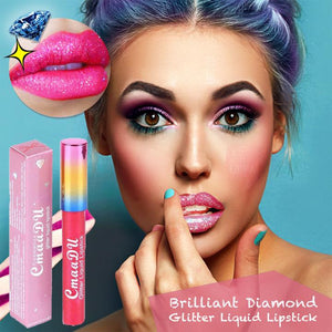 Evpct Long LastingWaterproof Glitter Lip Glosses
