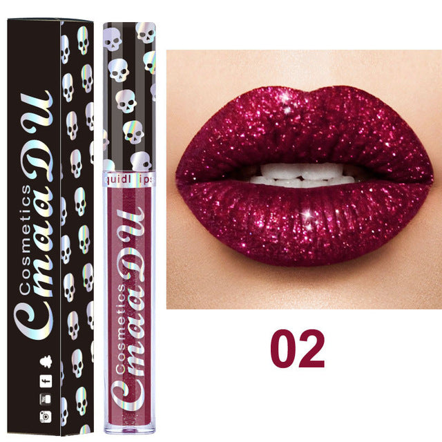 CmaaDu 8 Color Sexy Sparkle Metallic Lip Gloss