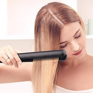 60%OFF-Anti-Static Ceramic 2 in 1 Straightener and Curling Iron Dual