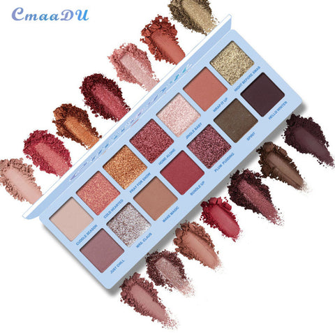 14 Color Nude Shining Eyeshadow Palette