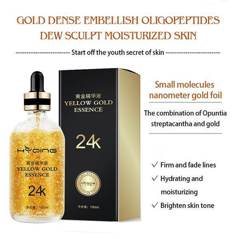 HYQING 24k Gold Moisturizing Essence---Solve 99% Of Skin Problems