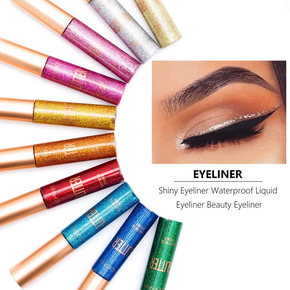 ARTIFUN 10 Color Glitter Eyeliner Liquid