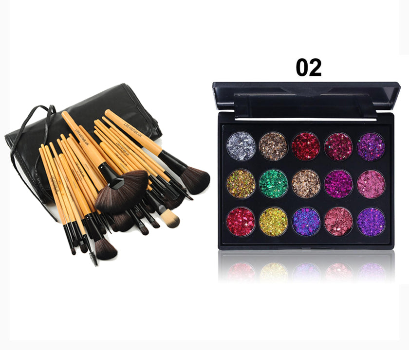 Glitter sequin eyeshadow waterproof palette