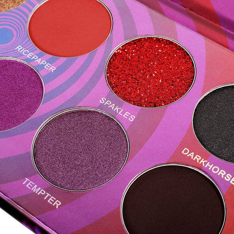 Image of DE'LANCI'12 Colors Matte Shimmer Velvet Long Lasting Glitter Eye Shadow