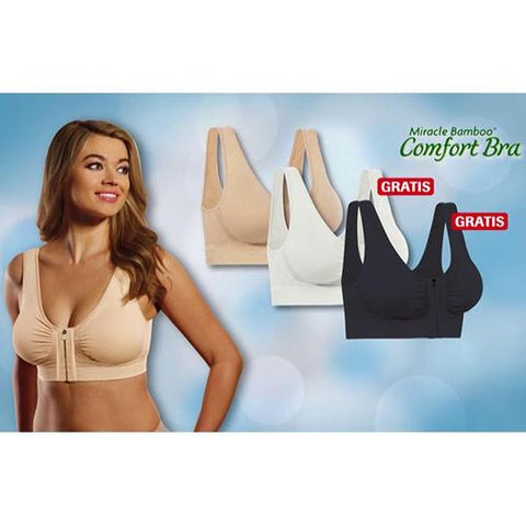 Image of 🎈2019 Big Promotion🎈 Miracle Front Zip Full-Freedom Bamboo® Bra