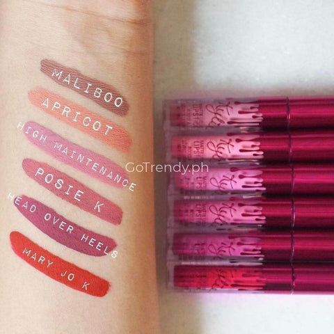 Perfect Matte Long-lasting/ Water-resistant Liquid Lipstick Set (6pcs Lipstick)