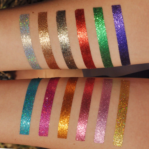 Pressed Glitter MULTI COLOR Eye shadow palette 6/Color