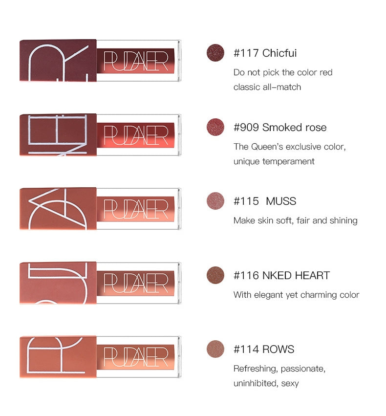 5pcs Matte Liquid Lipstick Set