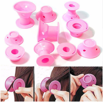 Silicone Hair Curlers Rollers 10pcs -70% OFF
