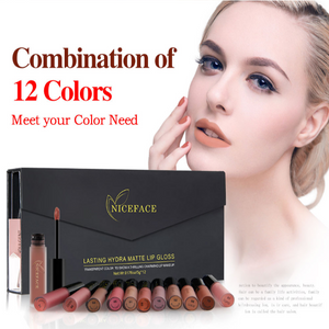 12 Colors Lip Gloss Waterproof Lip stick