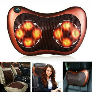 SHIATSU PILLOW MASSAGER WITH HEAT FOR BACK NECK SHOULDERS