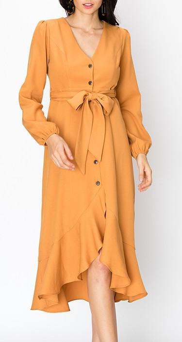 Princess Sleeve Button Down Dress