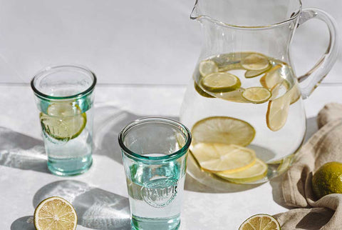 Nothing does more for oil free, clear skin than a couple of glasses of water a day!