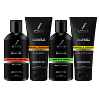 Charcoal Cleansing Kit | Face Wash, Face Mask, Body Wash, Shampoo