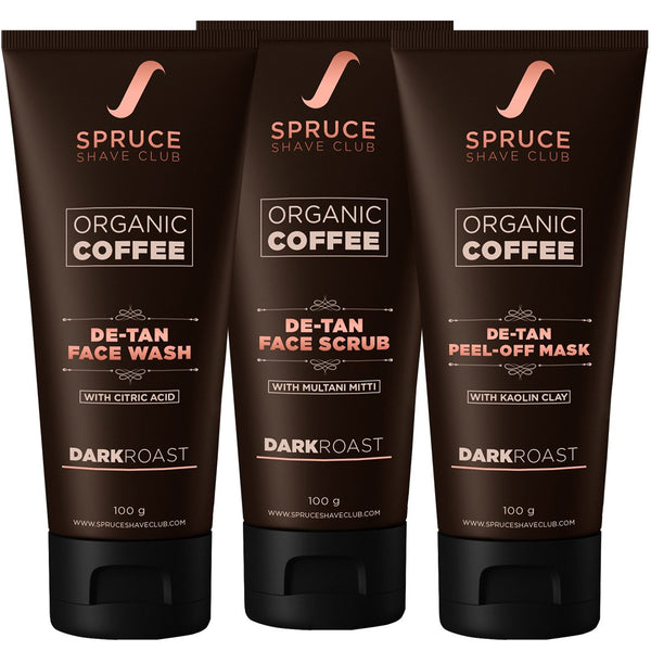 Organic Coffee De Tan Trio | SSG Exclusive - SpruceShaveClub
