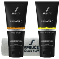 Charcoal Face Duo | Face Wash & Peel Off Mask | SSG Exclusive