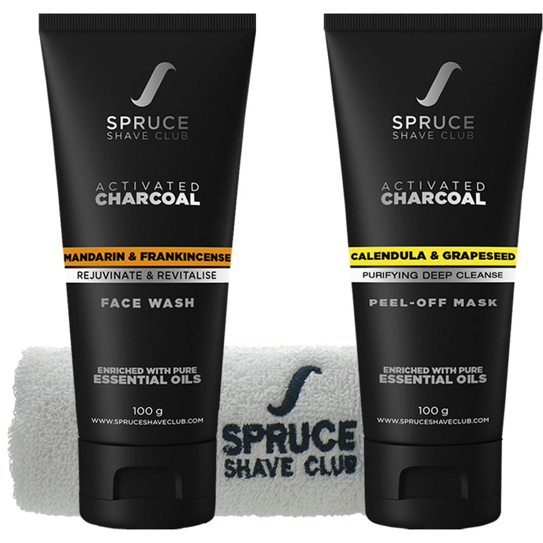 Charcoal Face Duo | Face Wash & Peel Off Mask | SSG Exclusive - SpruceShaveClub