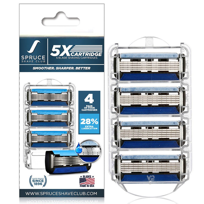 5X Cartridges | Pack of 4 - SpruceShaveClub