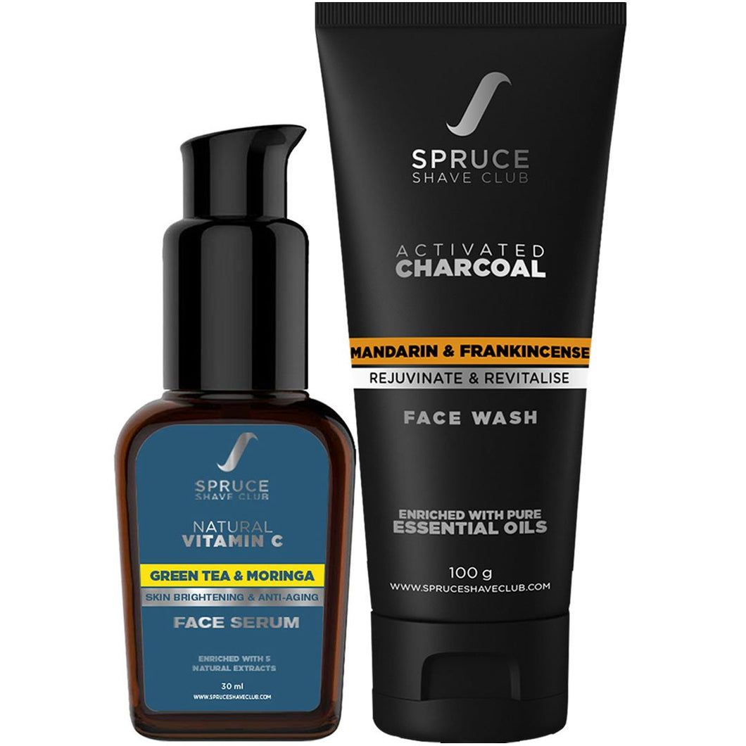 Face Protection Duo | Face Serum & Face Wash | SSG Exclusive - SpruceShaveClub