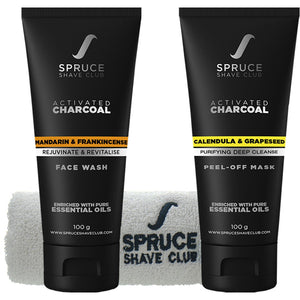 Charcoal Face Duo | Face Wash & Peel Off Mask