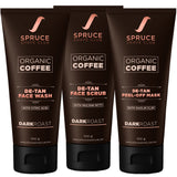Organic Coffee De Tan Trio | Face Wash, Face Scrub, Peel Off Mask - SpruceShaveClub