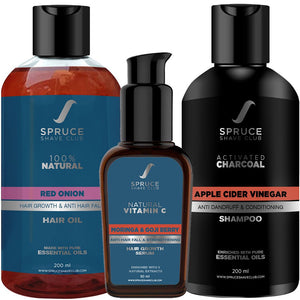 Anti Dandruff Kit | Hair Oil, Hair Serum, Charcoal Shampoo - SpruceShaveClub