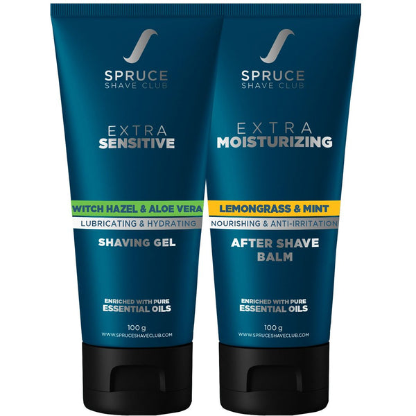 Extra Sensitive Shaving Combo | Shaving Gel & Aftershave Balm - SpruceShaveClub