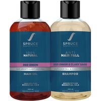 Anti Hair Fall Duo | Red Onion Hair Oil & Shampoo