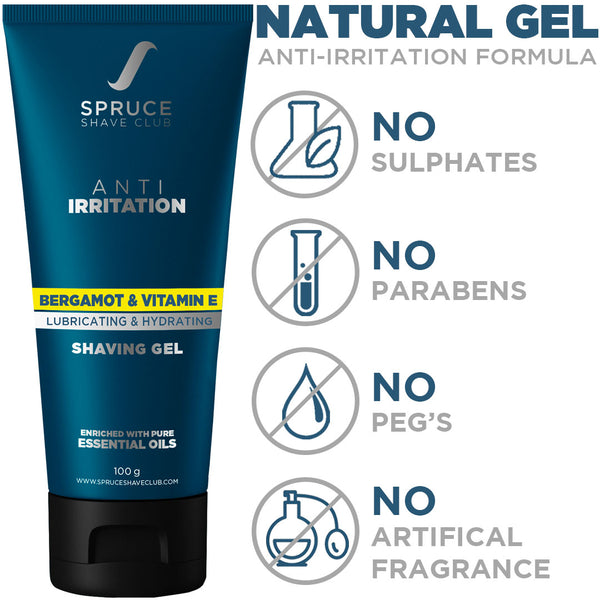 Shaving Gel | Anti Irritation | Bergamot & Vitamin E - SpruceShaveClub