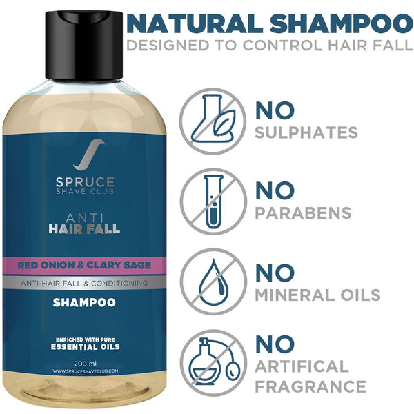 Anti Hair Fall Shampoo | Red Onion & Clary Sage - SpruceShaveClub