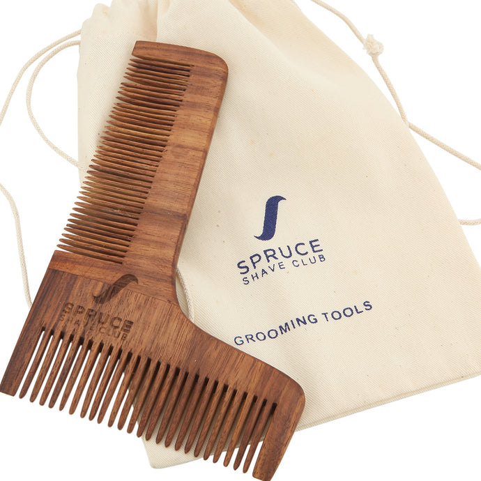 Wooden Beard Shaping Comb - SpruceShaveClub