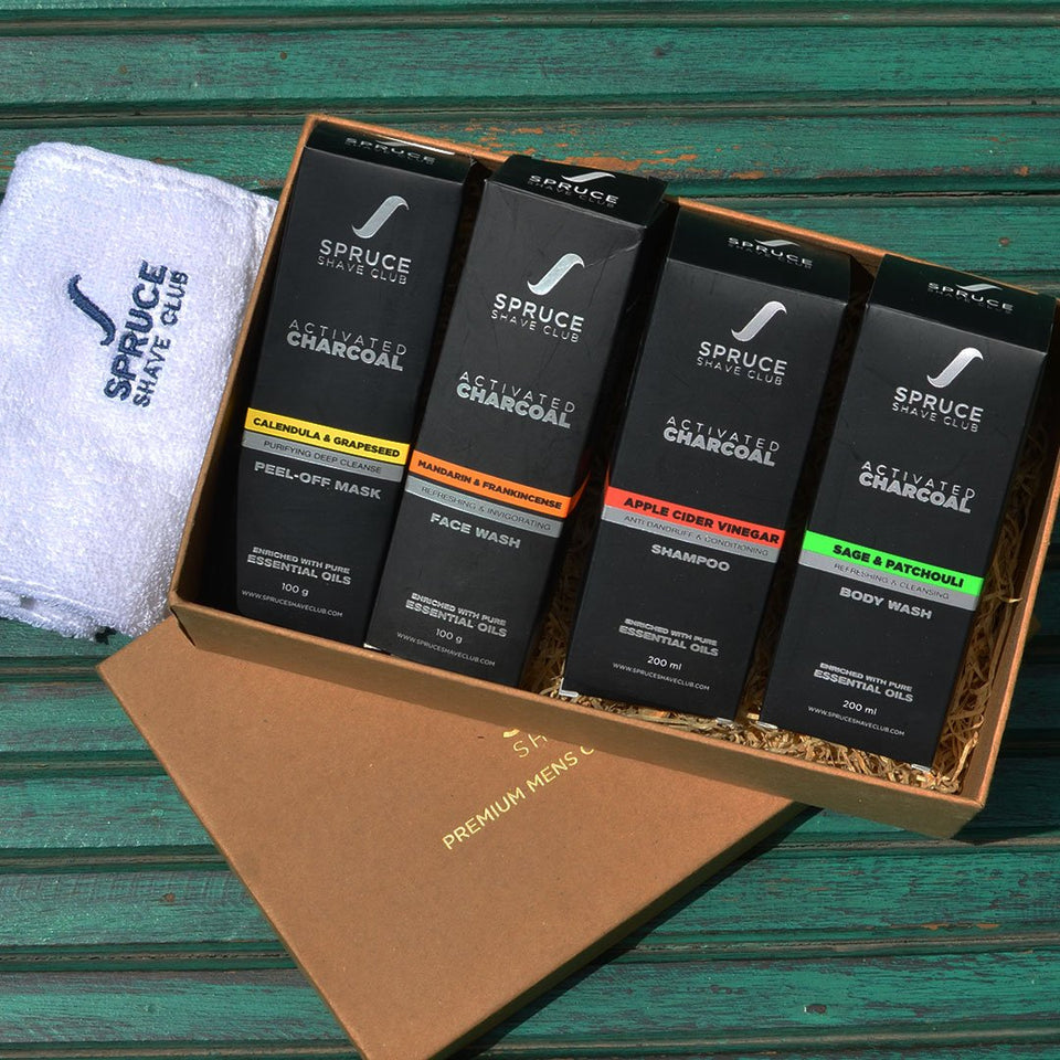 Charcoal Cleansing Kit | Face Wash, Face Mask, Body Wash, Shampoo - SpruceShaveClub