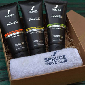 Charcoal De-Tan Trio | Face Wash, Face Scrub, Peel Off Mask - SpruceShaveClub