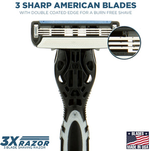 The 3X Shaving Razor (Handle + 1 Cartridge) - SpruceShaveClub