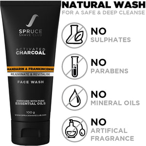 Daily Skin Care Kit | Charcoal Face Wash, Vitamin C Serum, Daily Moisturizing Cream - SpruceShaveClub
