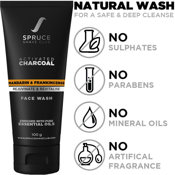 Daily Skin Care Kit | Charcoal Face Wash, Vitamin C Serum, Daily Moisturizing Cream