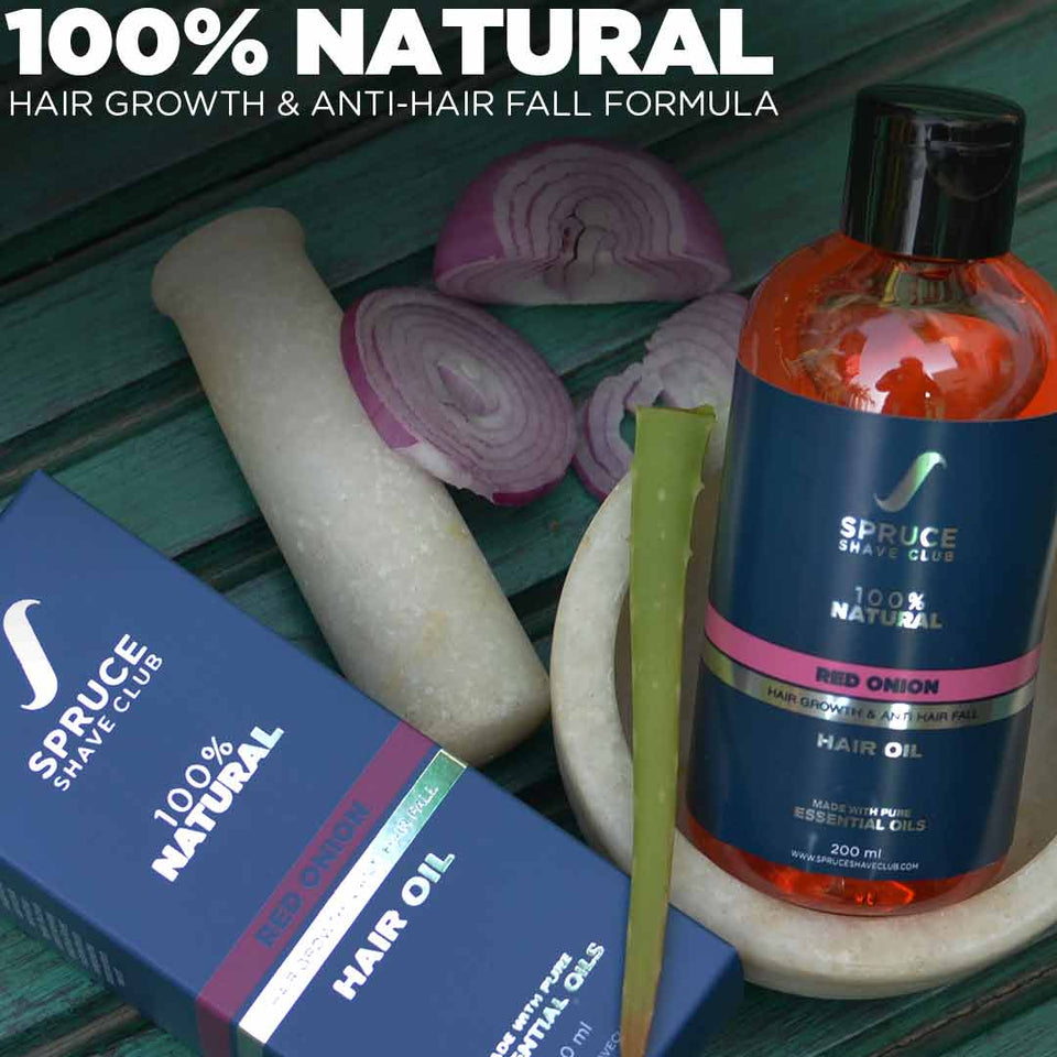 Anti Hair Fall Duo | Red Onion Hair Oil & Shampoo | SSG Exclusive - SpruceShaveClub