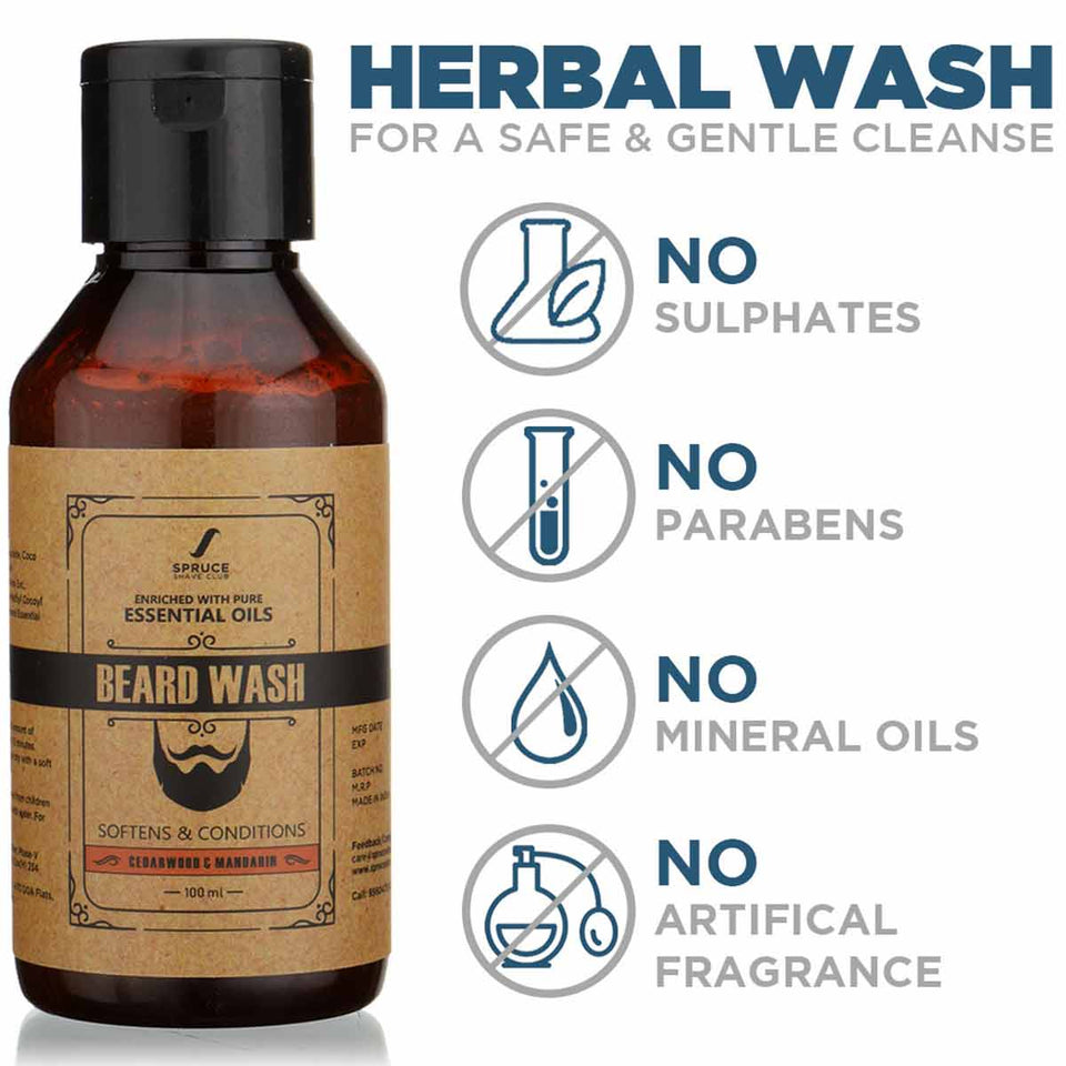 Beard Wash | Cedarwood & Mandarin (100ml) - SpruceShaveClub