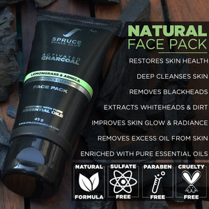 Charcoal Facial Starter Kit | SSG Valentines Special - SpruceShaveClub