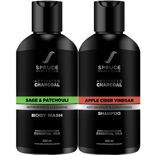 Charcoal Shower Duo | Body Wash & Shampoo