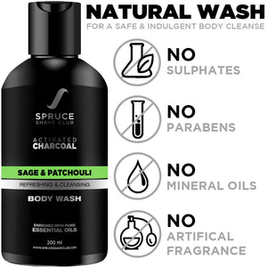 Charcoal Body Wash | Sage & Patchouli - SpruceShaveClub