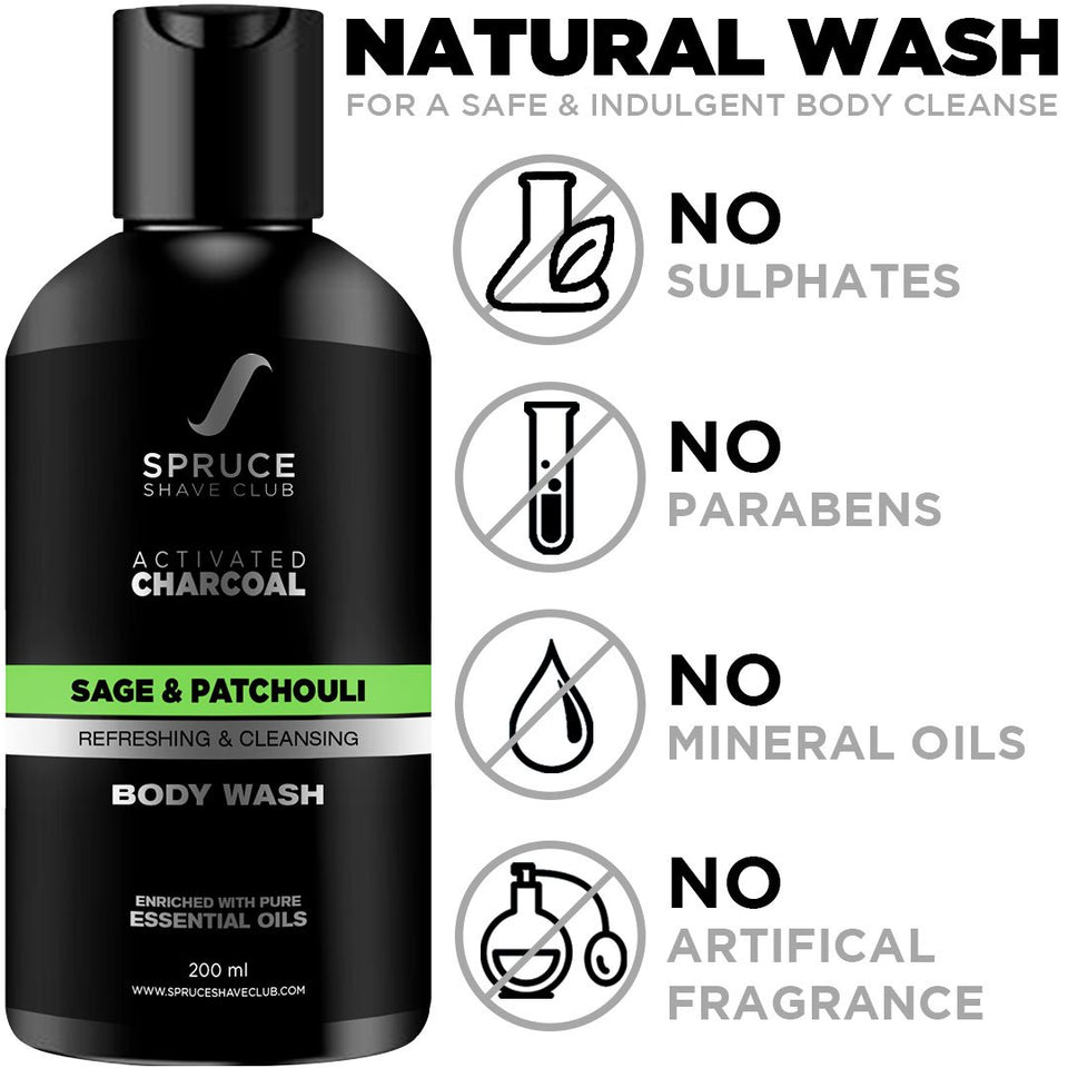 Charcoal Shower Duo | Body Wash & Shampoo - SpruceShaveClub