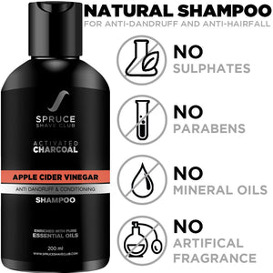 Anti Dandruff Charcoal Shampoo | Apple Cider Vinegar - SpruceShaveClub