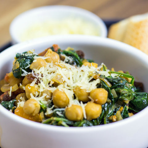Spanish Chickpeas with Tomatoes & Spinach