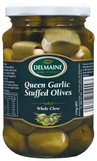Delmaine Queen Green Olives Garlic Stuffed